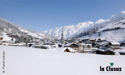 La Clusaz ski area, France