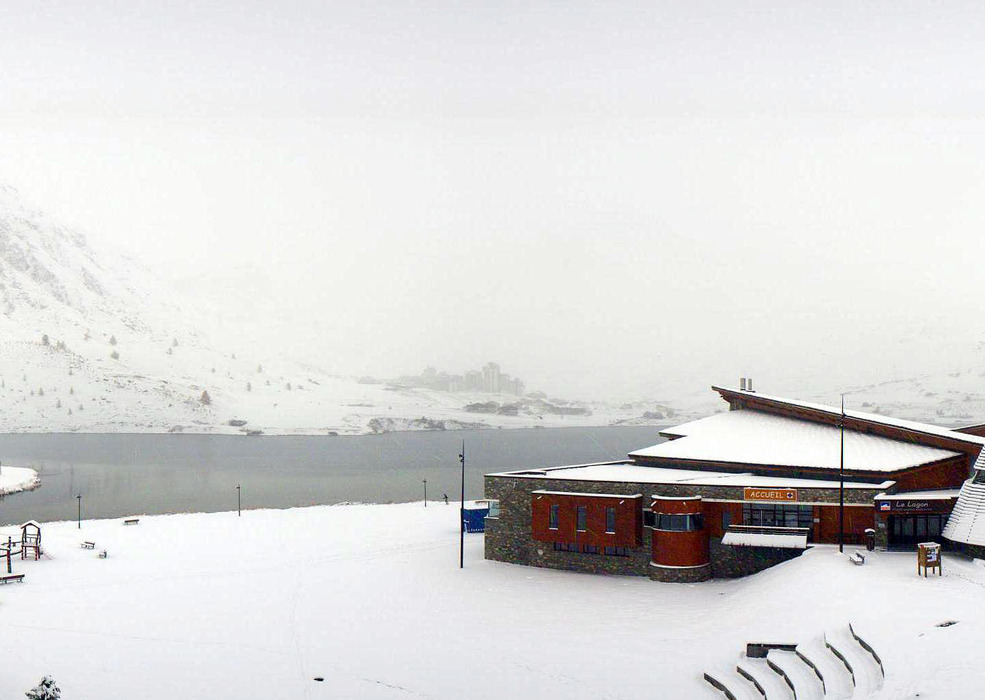 Heavy snow in Tignes, Oct. 27, 2012
