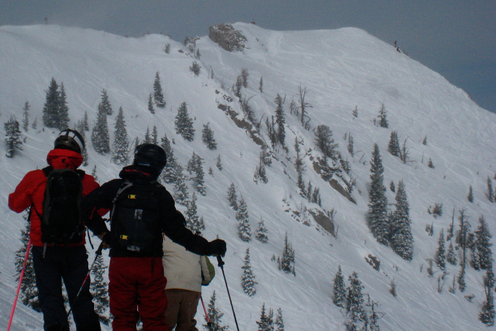 The ridge terrain from upper Schlasman's lift. Photo by Becky Lomax. - © Becky Lomax
