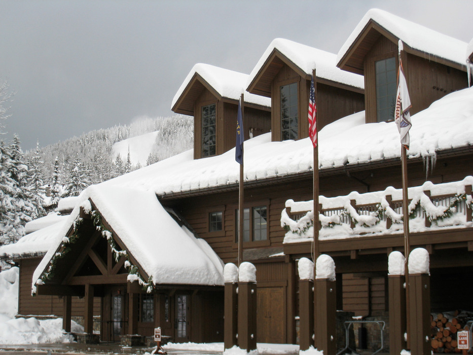 The base lodge at Whitefish Mountain Resort. Photo by Becky Lomax. - © Becky Lomax