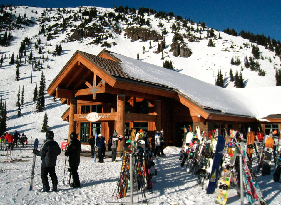 The Campbell Basin day lodge sits mid-way up Crystal Mountain Resort. Photo by Becky Lomax. - © Becky Lomax