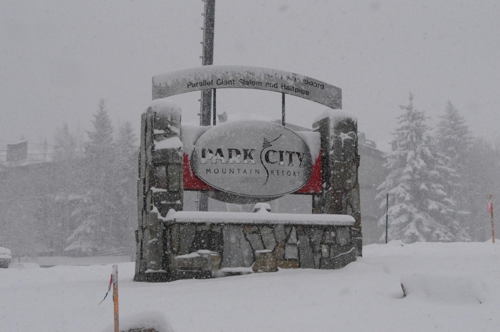 Snow from Winter Storm Brutus at Park City. Photo: Park City Mountain Resort/ Facebook