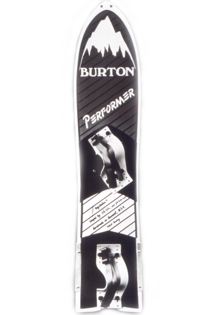 Das erste Performer mit angeschraubten Stahlkanten am Teil und optimierten Fußschlaufen mit dem Andy Coghlan 1984 die US Open gewann. - © The Burton Corporation