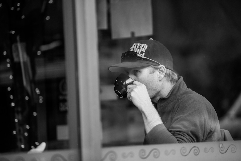 Photographer Liam Doran takes a break during a long day of shooting - © Liam Doran