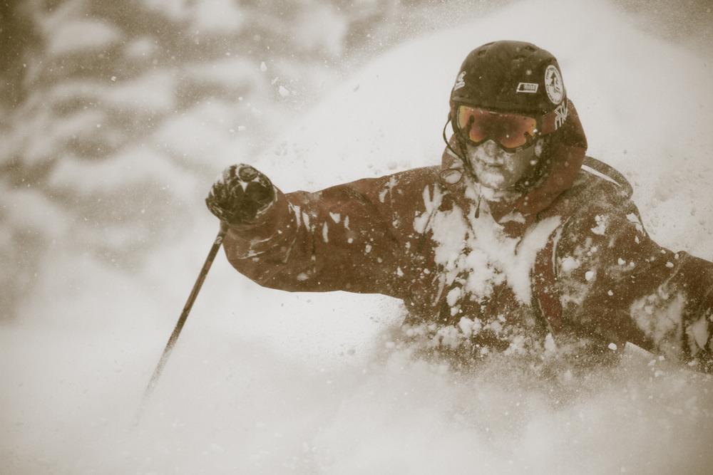Skier Wayne Grevey - © Liam Doran