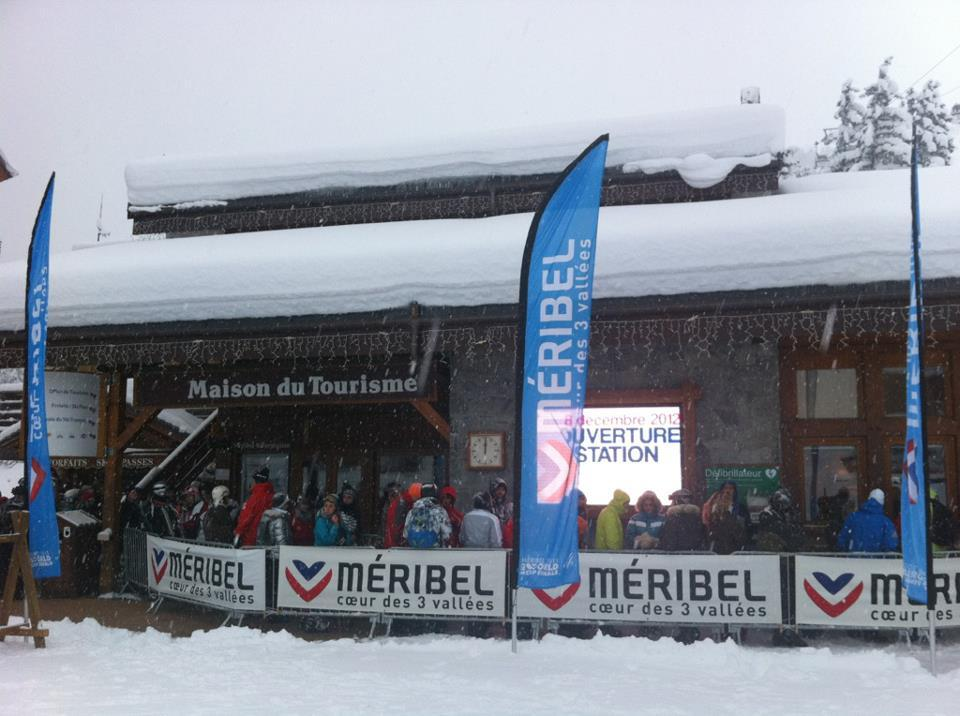 Meribel-Mottaret Tourist Office on opening day. Dec. 8, 2012 - © Meribel