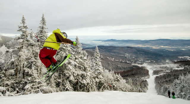 Jumping for joy. Photo Courtesy of Sugarbush Resort.