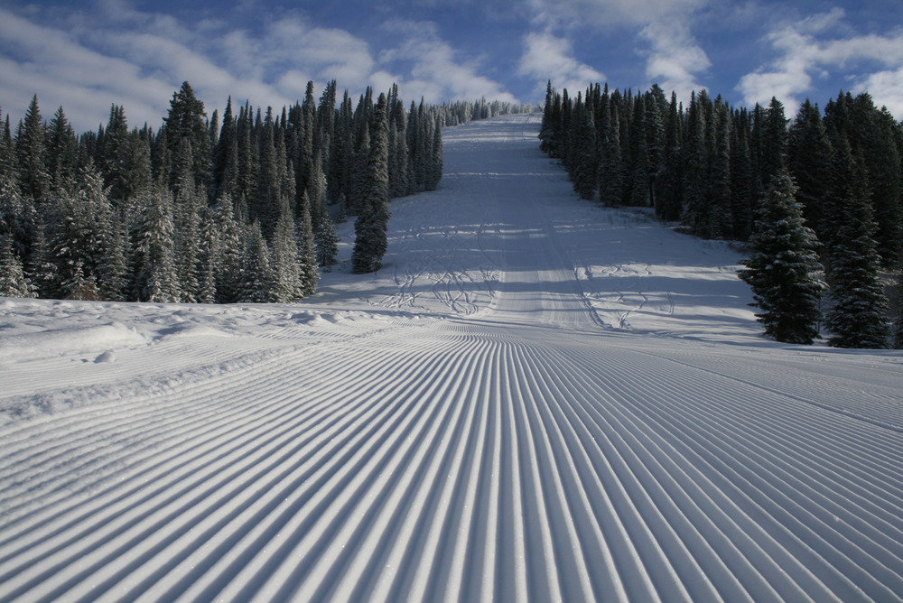 Groomers at Brundage. Photo courtesy of Brundage Mountain Resort.