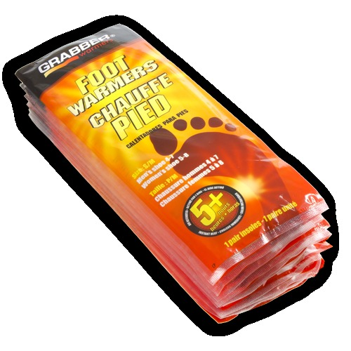 Grabber Foot Warmers 5+ Hour 10 Pair Bundle - Foot warmers can make even the coldest days bearable out on the hill. This 10 pack of Grabber Foot Warmers is sure to keep your feet and toes warm so you can keep skiing. $25. - © Grabber Foot Warmers