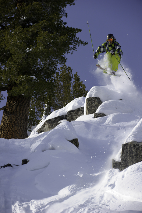 Jared Dalen riding in the chutes at Mt. Rose Ski Tahoe