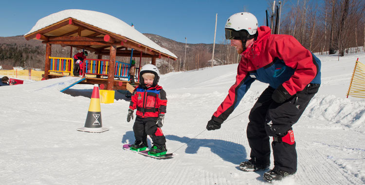 Smuggs installed a full-time Burton Riglet Park for teaching young shredders. Photo Courtesy of Smuggler's Notch Resort.