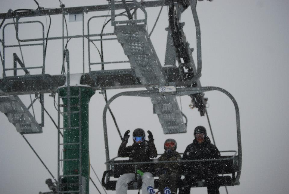 Skiers and snowboarders are pumped for snow at Burke Mountain. 12/27/2012 - © Burke Mountain/Facebook