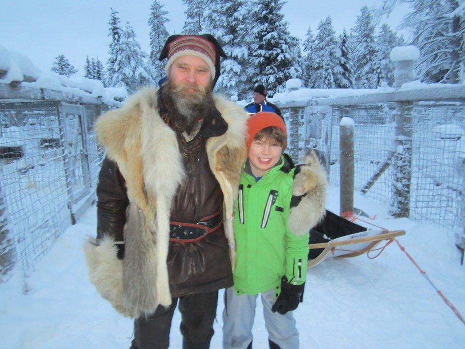 Patrick and Robert in Lapland - ©Patrick Thorne