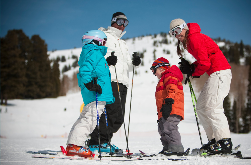 Families can ski together at Grand Targhee. Photo courtesy of Grand Targhee Resort.