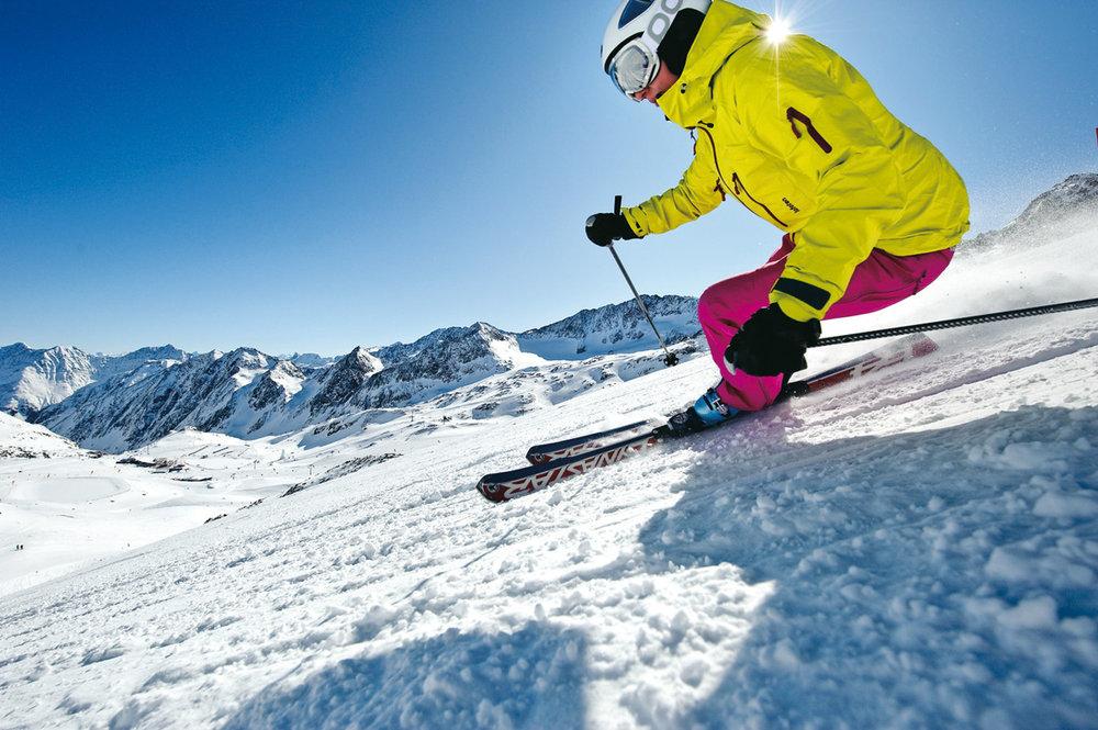 Abfahren auf höchstem Niveau: Skifahren auf dem Stubaier Gletscher