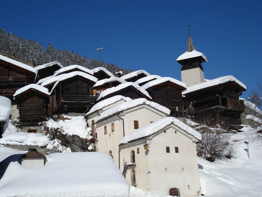 The village of Grimentz in winter - © OT Sierre-Anniviers