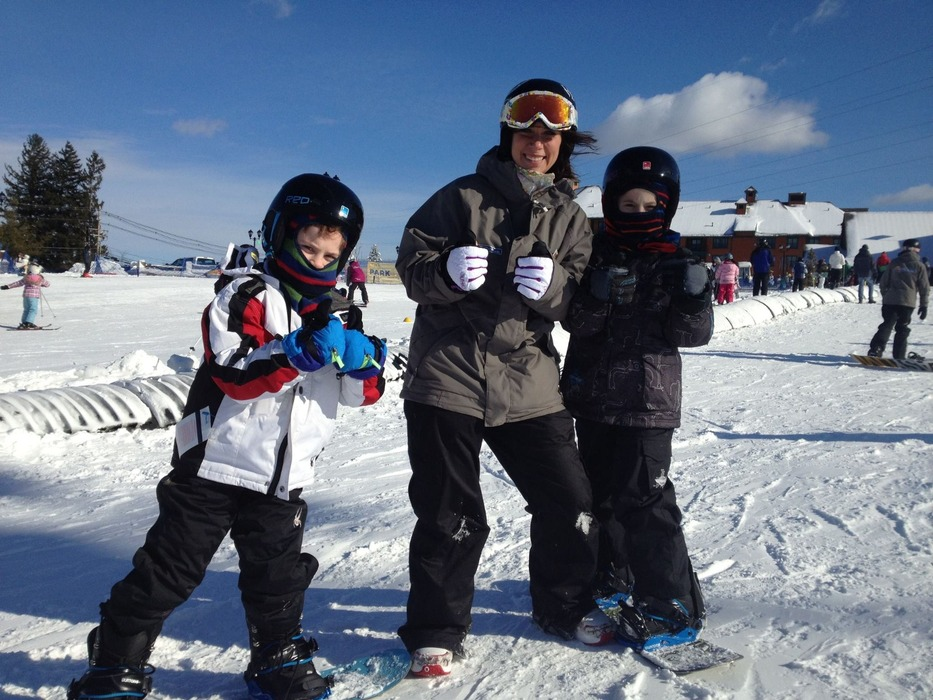 Young snowboarders learning the sport. Photo Courtesy of Mountain Creek.