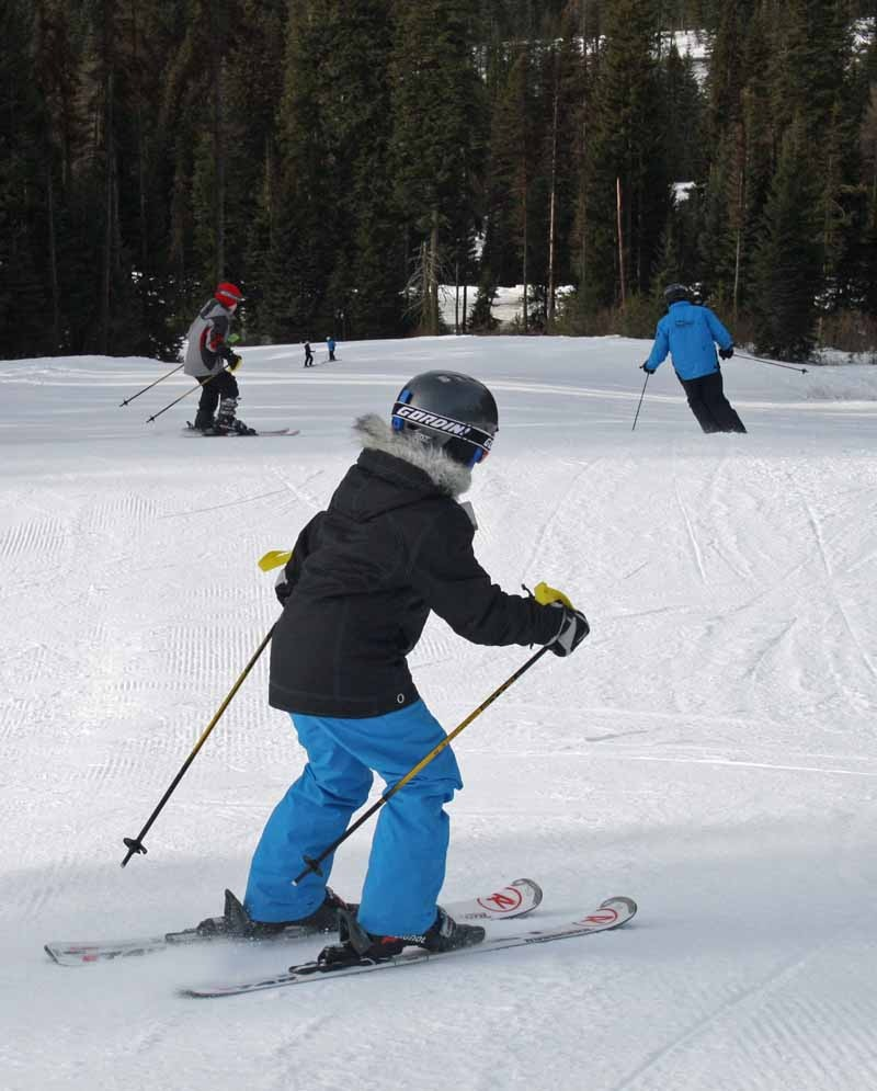 Families can learn to ski at Brundage. Photo courtesy of Brundage Mountain Resort.
