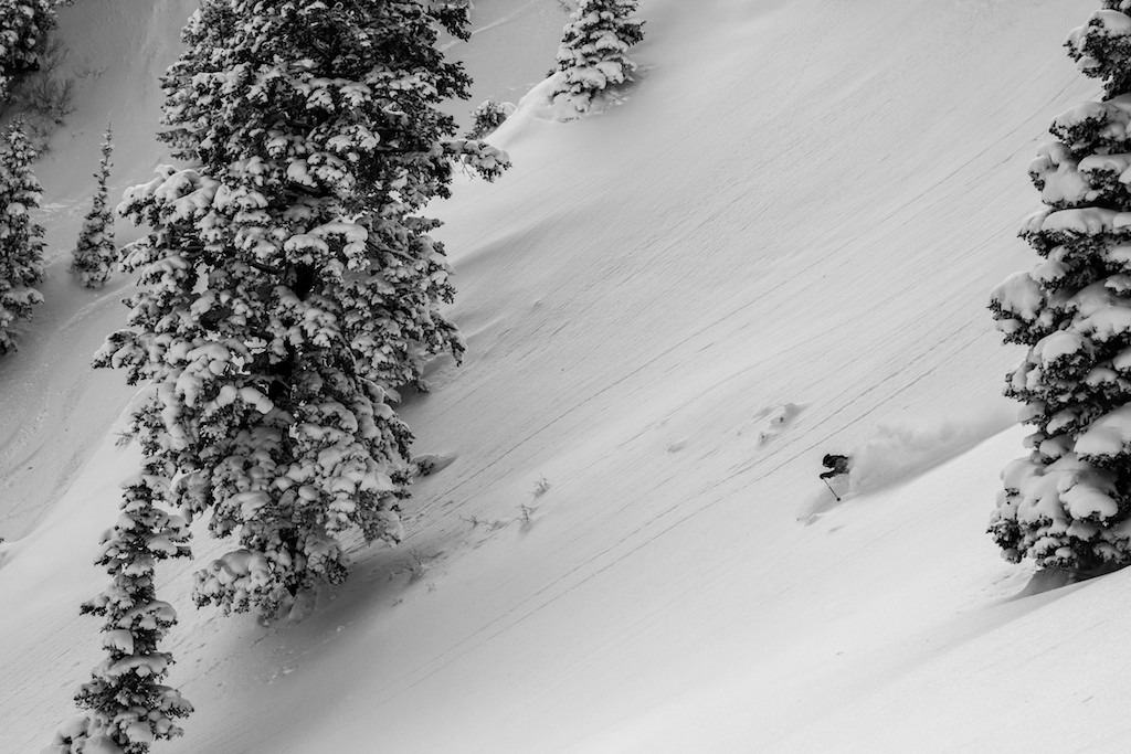 Solitary moment for Todd LIgare at Snowbasin. - ©Liam Doran