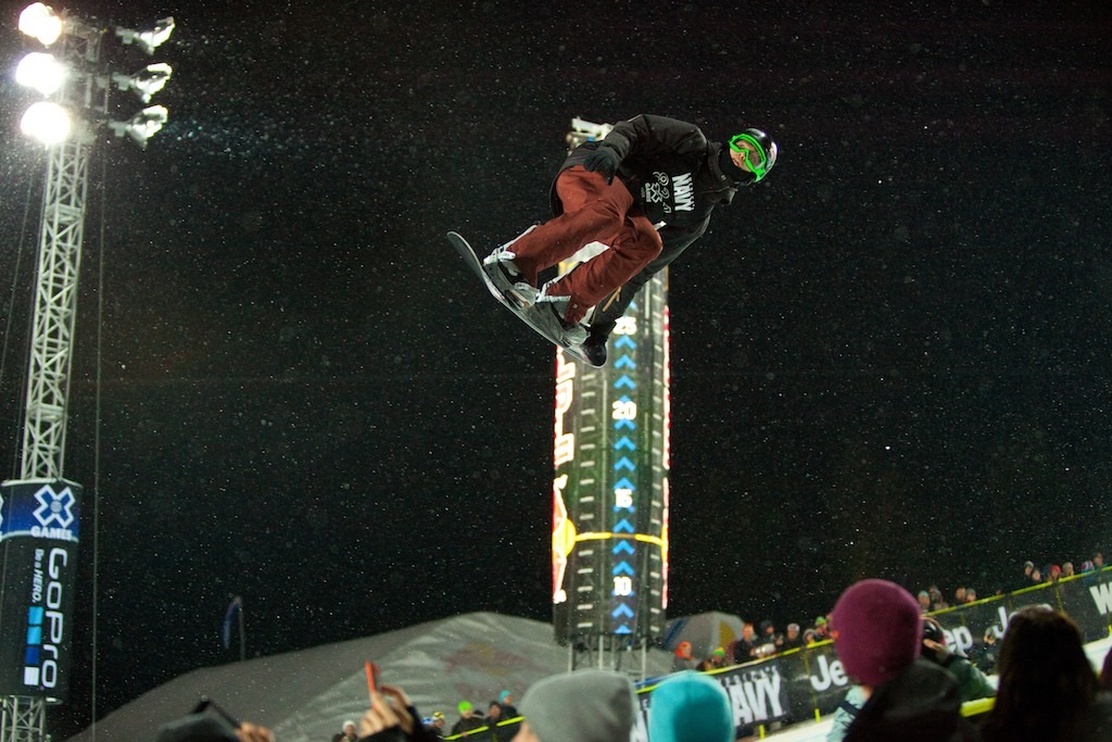 "Iouri ""Ipod"" Podladtchikov finished the Snowboard Superpipe elimination round in first place. - © Jeremy Swanson"