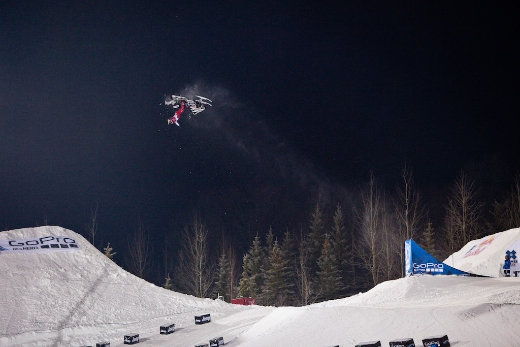Levi LaVallee on his way to winning his sixth X Games gold. - © Jeremy Swanson