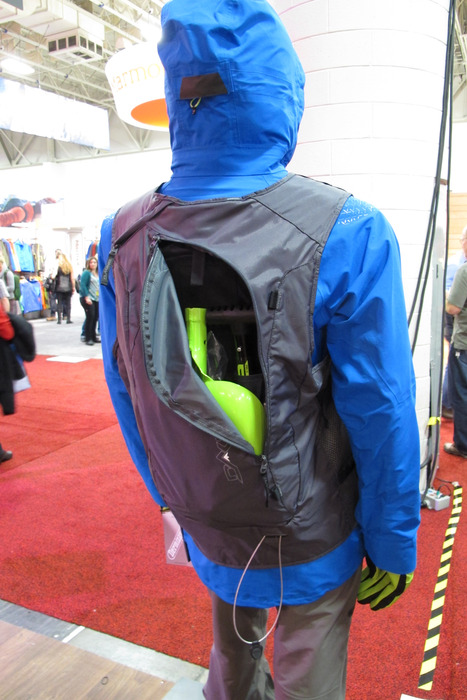 Not into wearing a pack but need to have your tools in the backcountry? Dakine unveiled a new lightweight vest that will hold your probe, shovel, beacon and more. - © Dan Kasper
