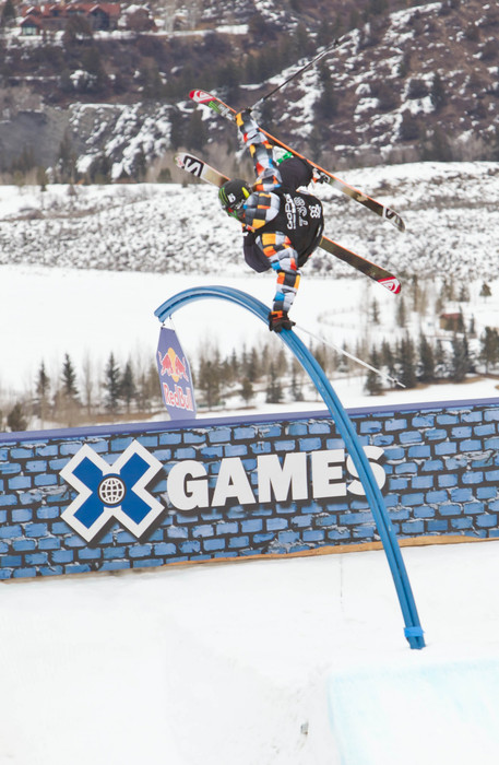 James Woods on the slopestyle course at the X Games - © ESPN
