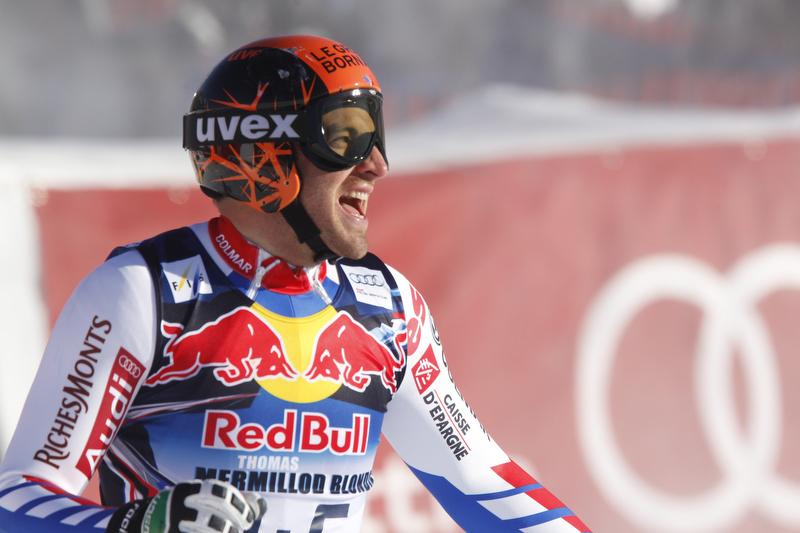 Thomas Mermillod-Blondin gehört zu den besten Kombinierern und freut sich über Rang drei in Kitzbühel - © Hook BADERZ/AGENCE ZOOM
