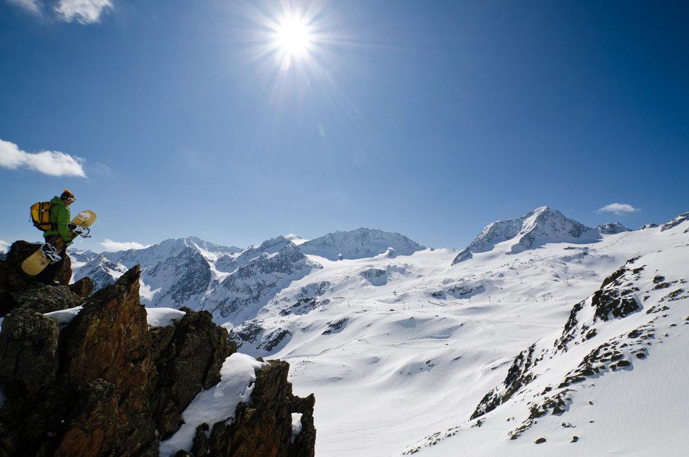 Beste Bedingungen für Freerider gibt es am Stubaier Gletscher
