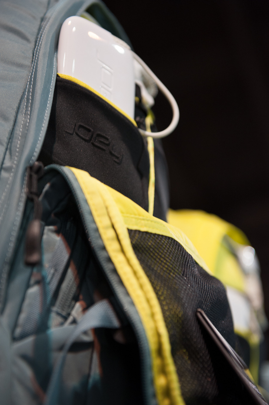 The Router Charged Day Pack from The North Face holds 2.5 charges for your Smartphone. The pack, developed thanks to a partnership with Joey Systems, can charge batteries in addition to your phone.  - © Ashleigh Miller Photography
