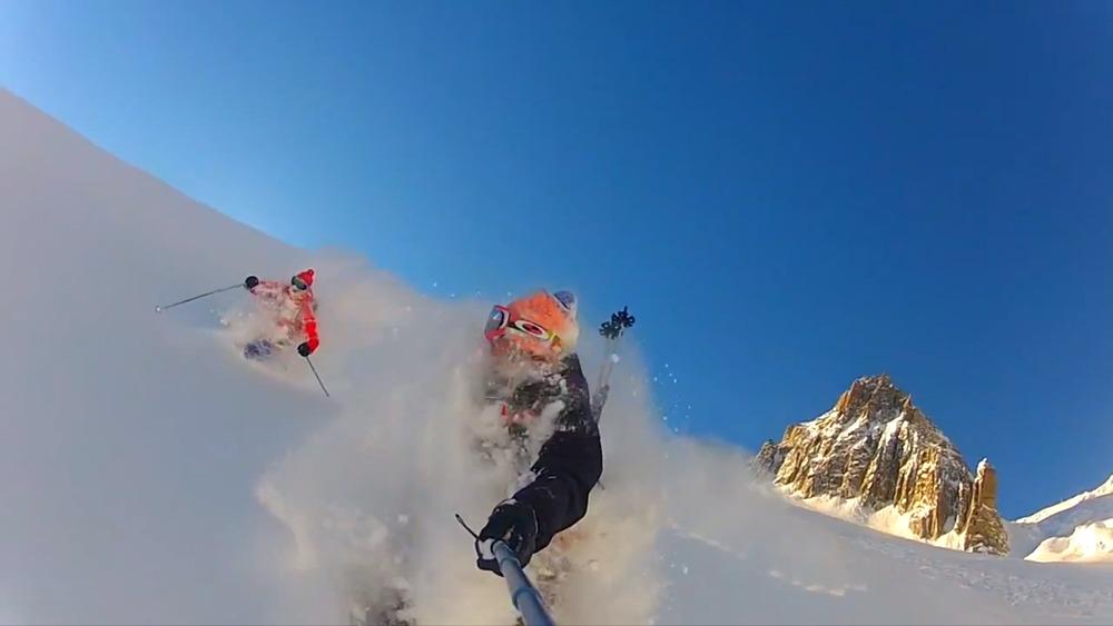 Dyp puddersnø i Chamonix - © se video