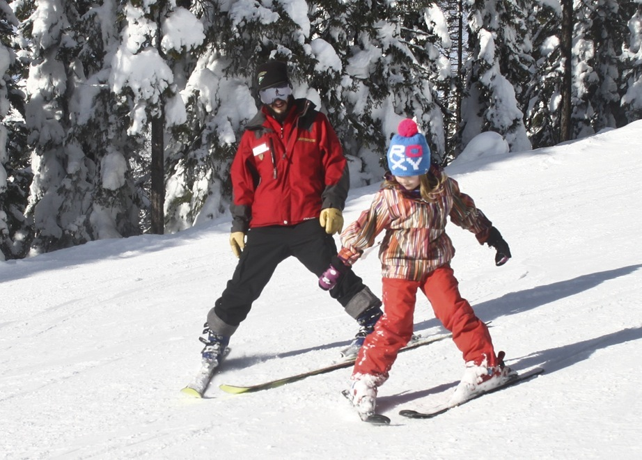 Children's ski lessons at Whitefish Mountain Resort.Photo courtesy of Whitefish Mountain Resort.