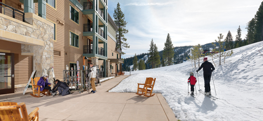 Kids and adults have easy access to the mountain from the Constellation Residences at Northstar, in Lake Tahoe, California. - ©Constellation Residences