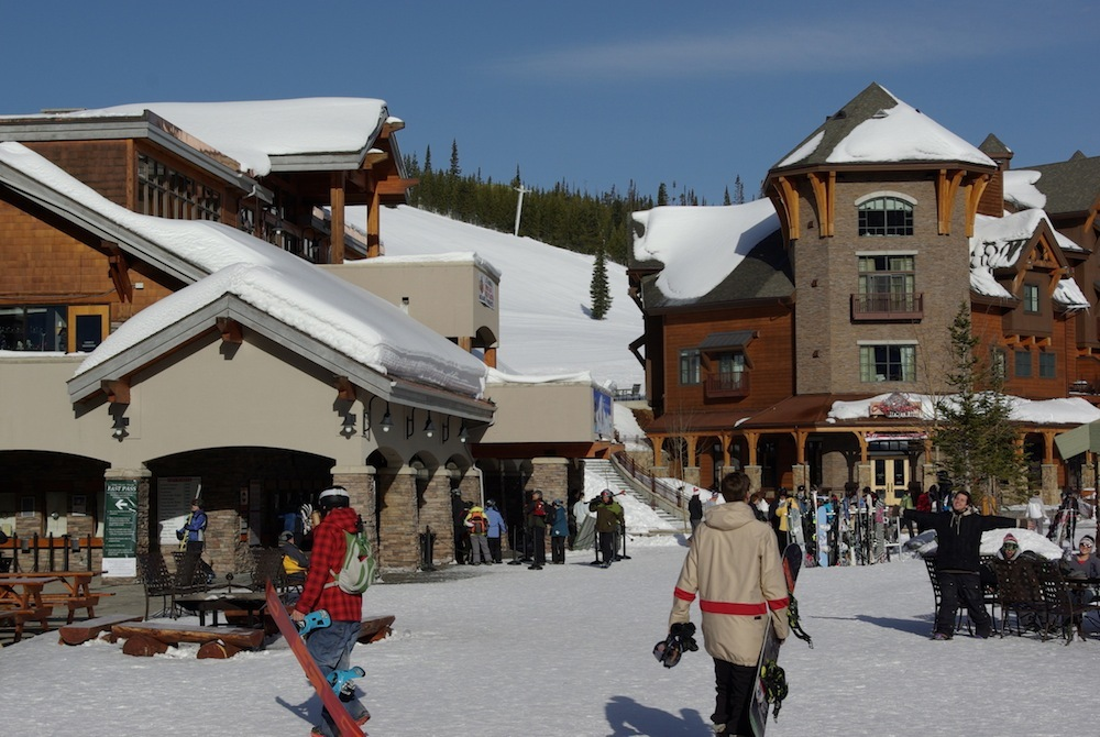 The plaza at Big Sky Resort. Photo courtesy of Big Sky Resort.