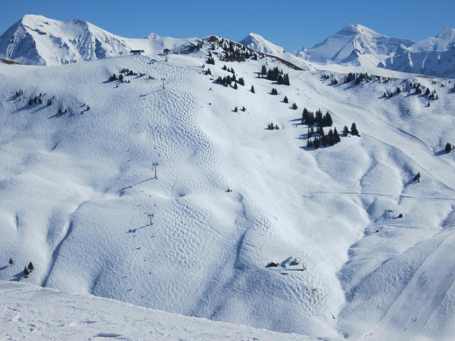 Beste Schneeverhältnisse in Gstaad - © Patrick Thorne