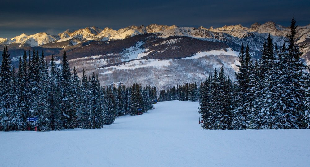 Looking out across the Gore Range from Vail Mountain. - © Jeff Cricco