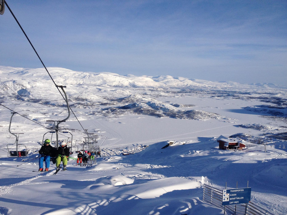 Skiing in Sweden is a good bet for UK skiers this year (picture: Riksgränsen, Sweden) - © Riksgränsen