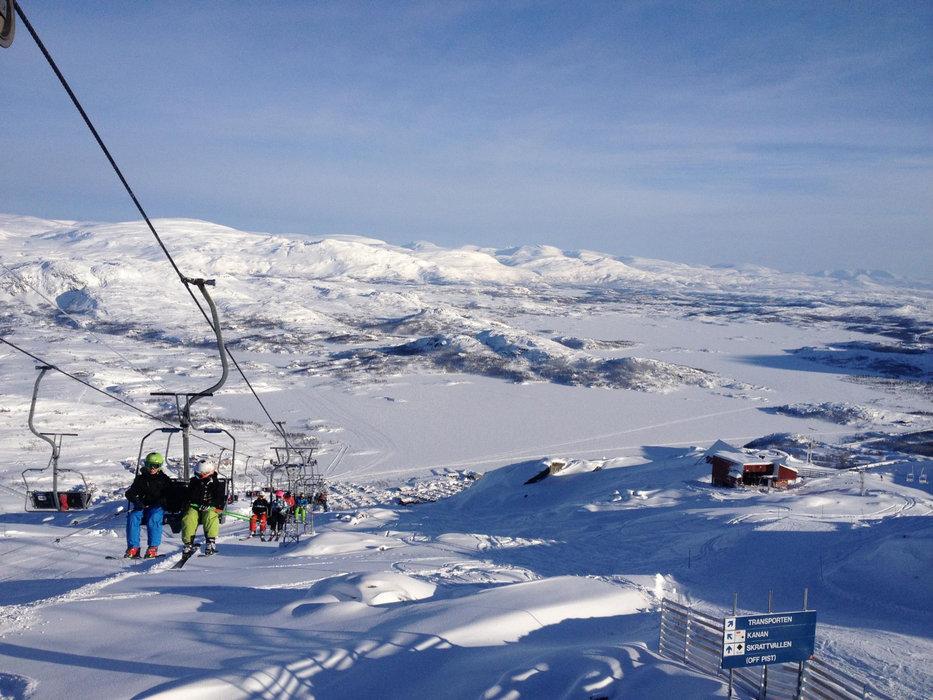 Skiing in Sweden is a good bet for UK skiers this year (picture: Riksgränsen, Sweden) - © Riksgränsen