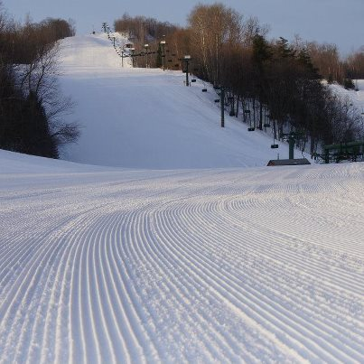 Great looking corduroy at Blackjack. - ©Blackjack Ski Resort
