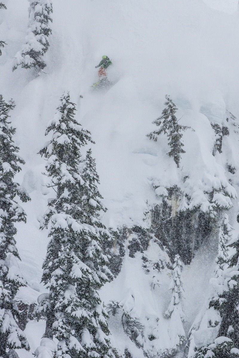 Zack Giffin picks his line. - © Liam Doran