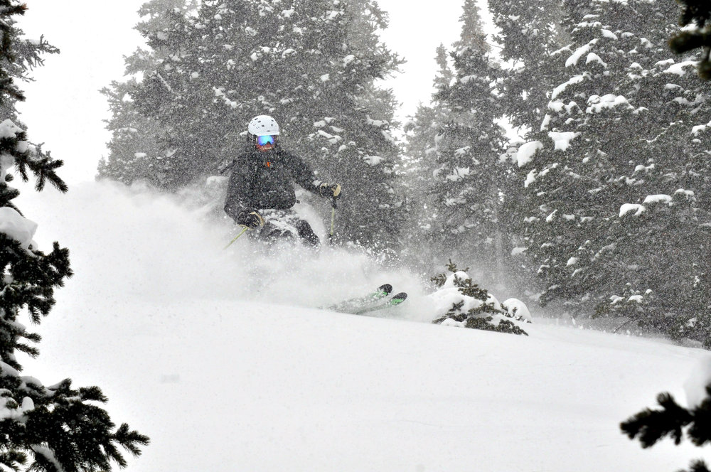 Persistent northwest flow and cold air kept the snow falling steadily at Breckenridge.  - ©Josh Cooley