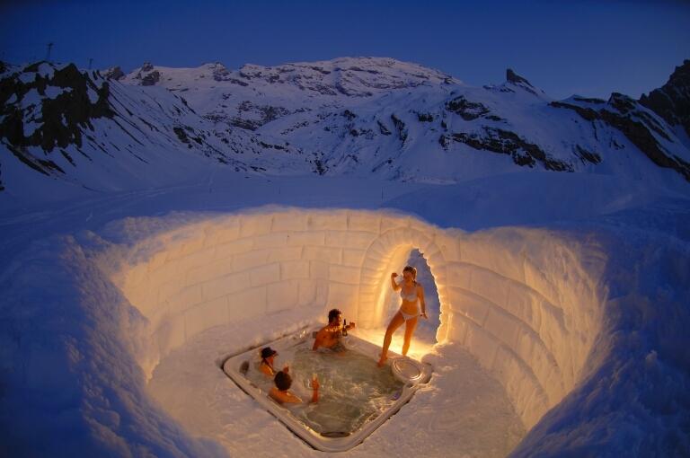 Igloo whirlpool, Engelberg - © Engelberg-Titlis Tourismus AG