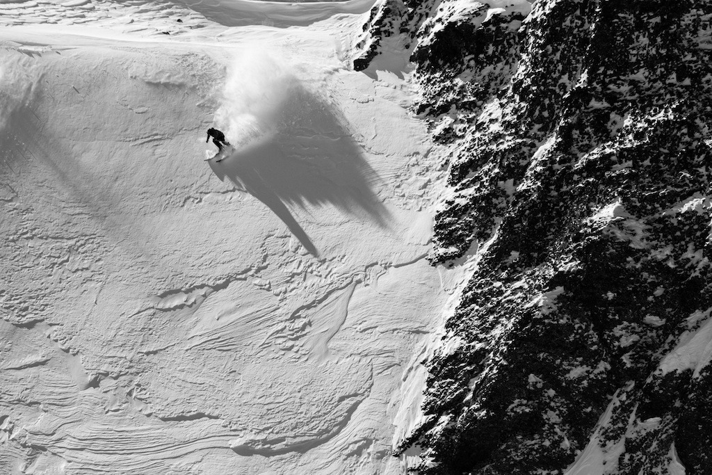 The skiing in Telluride is as steep as you'll find anywhere. Skier: Greg Hope - ©Liam Doran