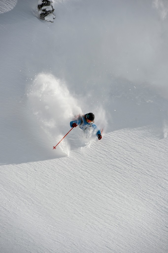 Sammo is a specialist in finding the untracked. Feb 24 was one of the three deepest days of the winter. - © Lee Cohen