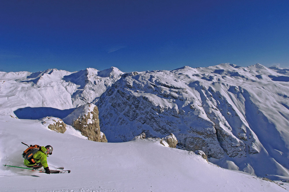Excellent snow conditions can be found in the Alps, like here on the slopes of Val d'Isère - © A. Royer / OT de Val d'Isère