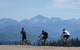 Cyclists at Whitefish, MT.