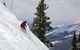This skier finds new powder on a mountain in Crested Butte, Colorado