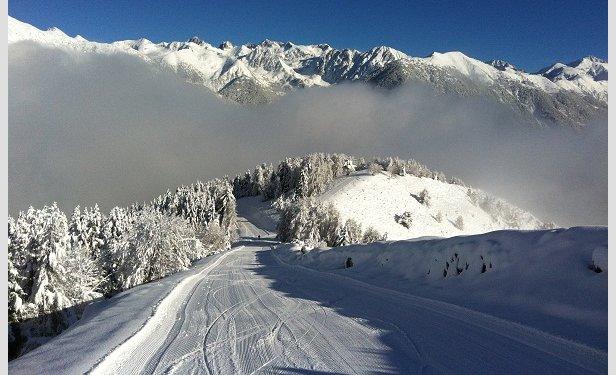 Sur les pistes de ski de la Colmiane, secteur Conquet