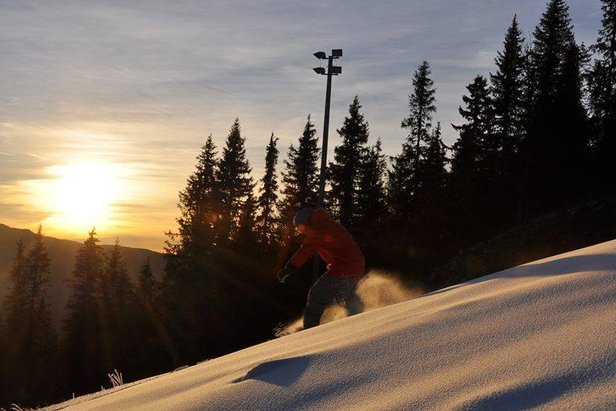 The first skier of 2013/14 at Kvitfjell, Norway