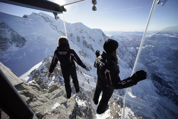 Step Into The Void on the Aiguille du Midi above Chamonix   - © Chamonix Tourism